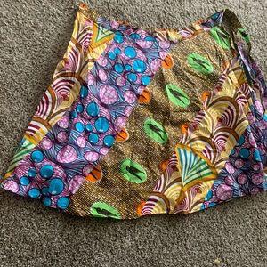 Dresses & Skirts - Ankara Africa wrap skirt kente wax print